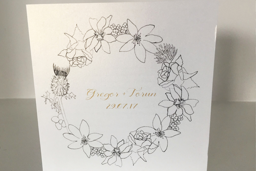 Kirsty Riddell wedding invitations