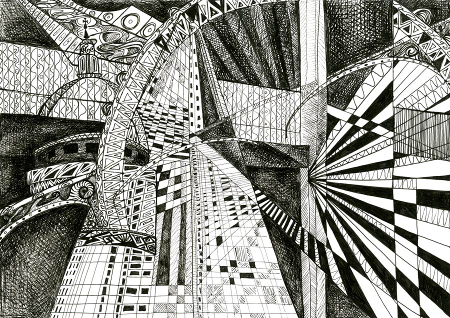 London Black & White by artist Kirsty Riddell