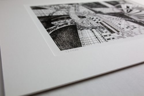 Kirsty Riddell London Black and White print