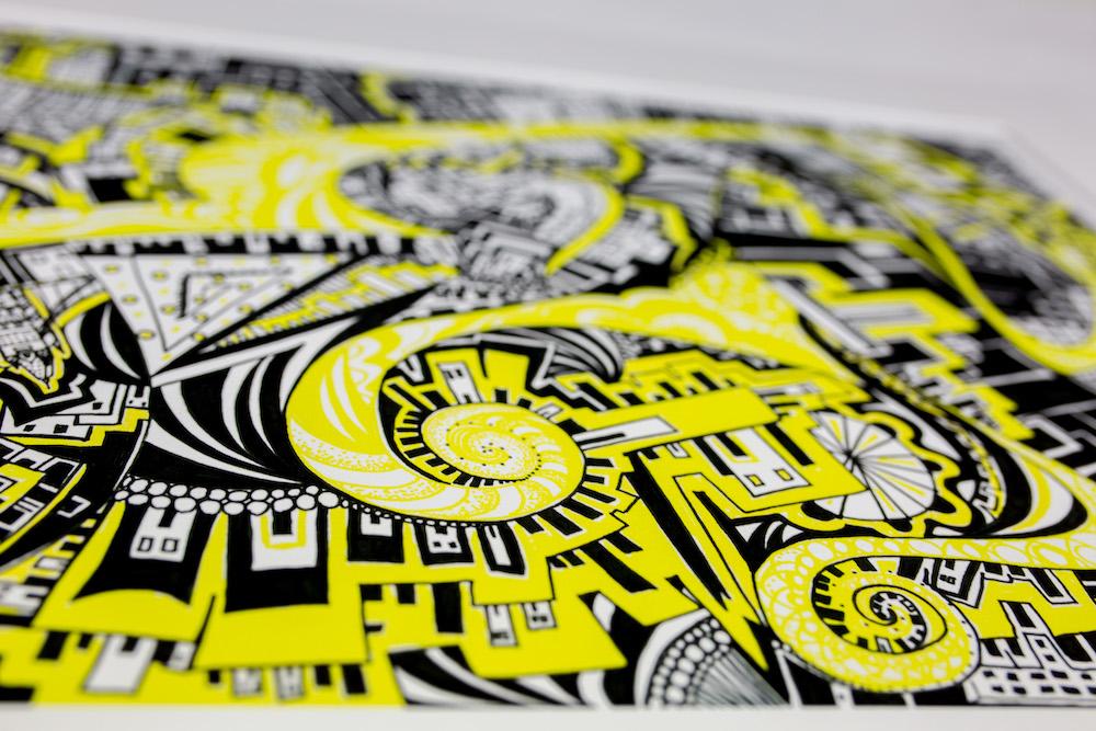 Kirsty Riddell Yellow Brick Road I print