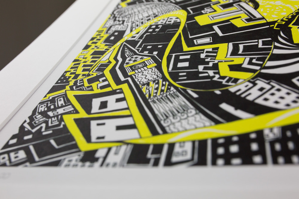 Kirsty Riddell Yellow Brick Road print