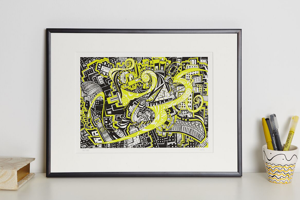 Yellow Brick Road I print in frame