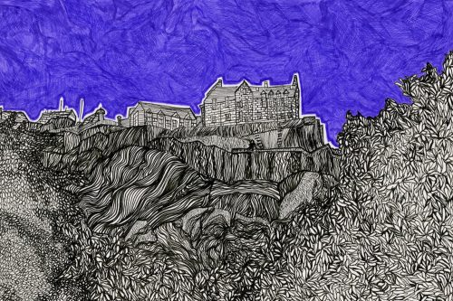 Edinburgh Castle drawing Kirsty Riddell