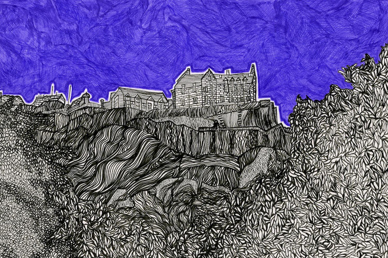 Edinburgh Castle drawing Kirsty Riddell