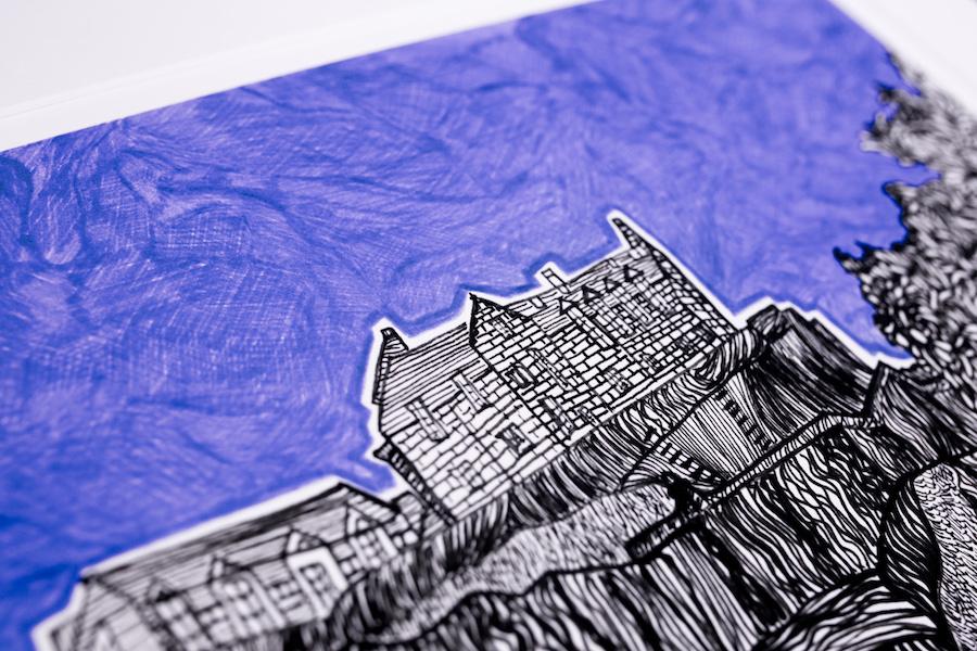 Edinburgh Castle print Kirsty Riddell