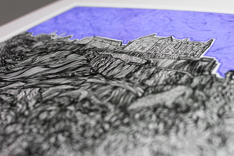 Kirsty Riddell Edinburgh Castle print