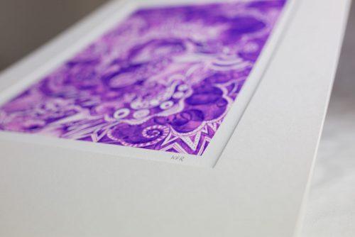 Kirsty Riddell Purple print
