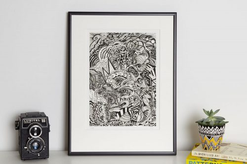 Kirsty Riddell bwI print in frame