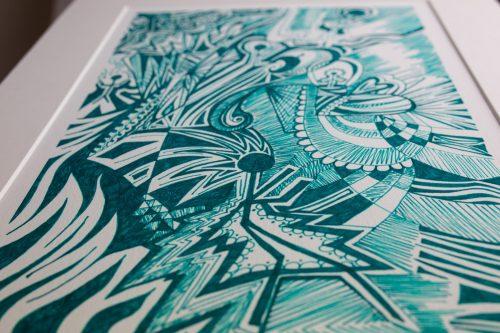 Kirsty Riddell print Green Man