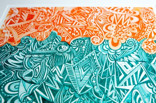 Kirsty Riddell 'Orange and Green' print