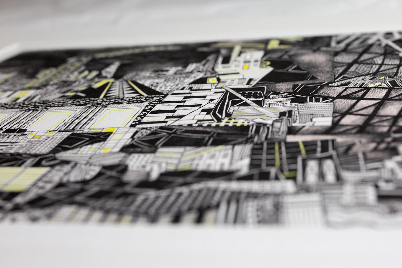 Kirsty Riddell print yellow brick road IV