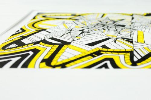 Kirsty Riddell yellow brick road III print