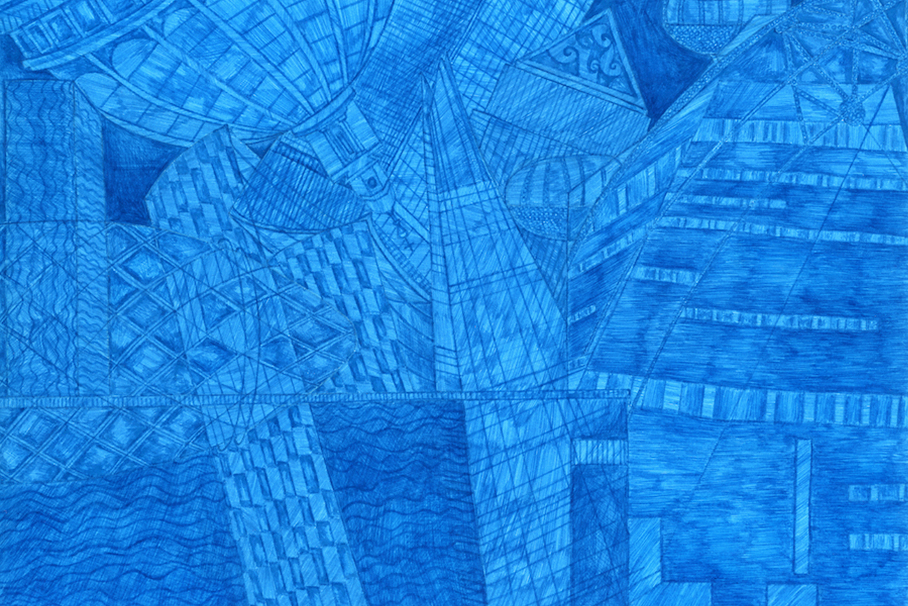 London Blue drawing Kirsty Riddell