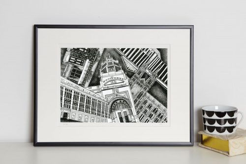 London museums print in frame Kirsty Riddell