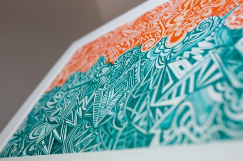 'Orange and Green' Kirsty Riddell