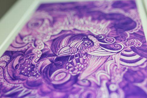 Purple print Kirsty Riddell