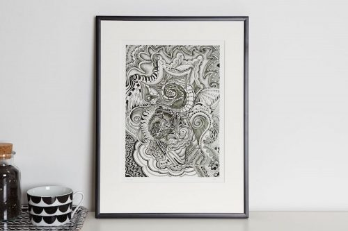 bw III print in frame Kirsty Riddell