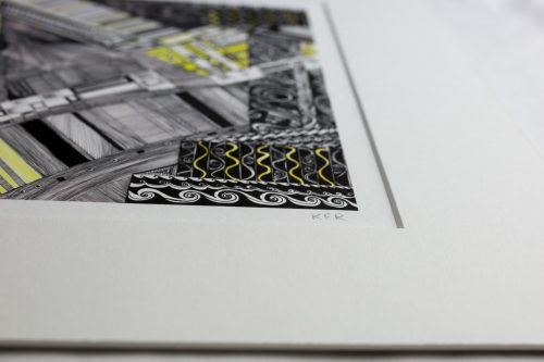 print yellow brick road V Kirsty Riddell