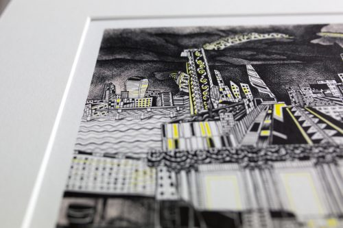 yellow brick road IV by artist Kirsty Riddell