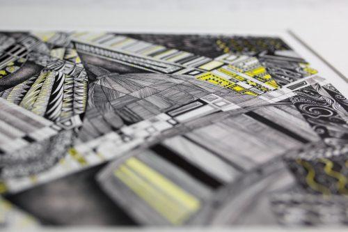 yellow brick road V print