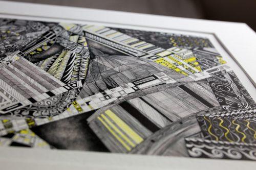 yellow brick road V print Kirsty Riddell