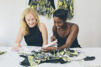 fashion Kirsty Riddell and Beryl Otieno