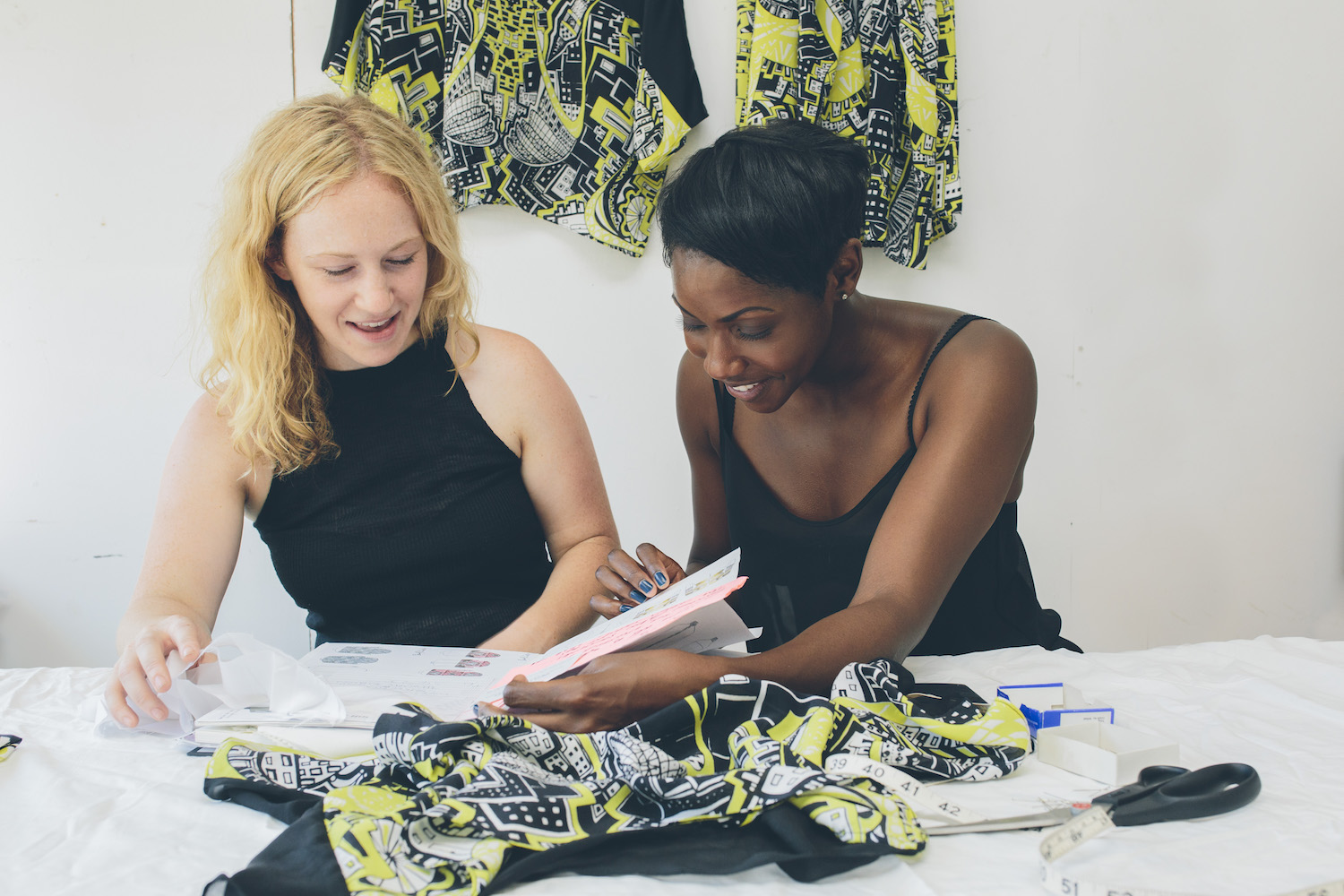 fashion Kirsty Riddell and Beryl Otieno in studio