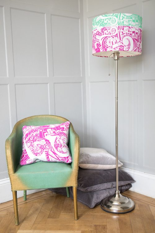 home furnishings lampshade and cushion