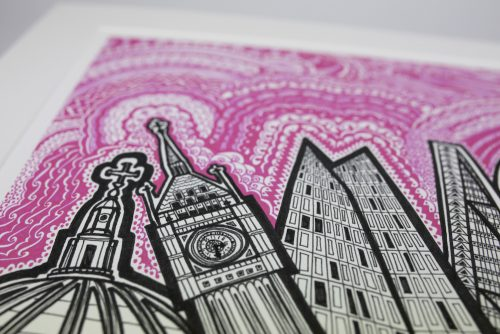 KR London Pink Sky Print