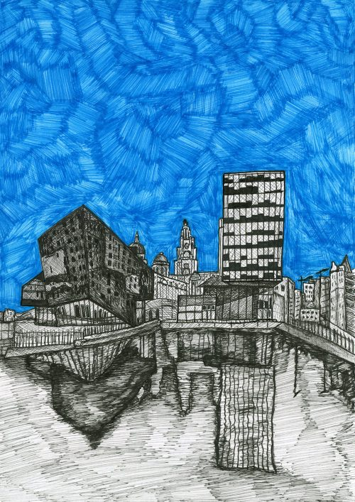 Liverpool Waterfront Drawing