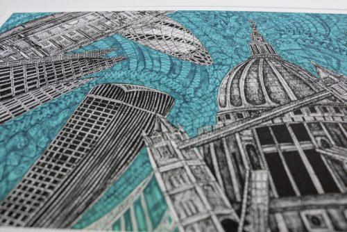 London Green Sky Print