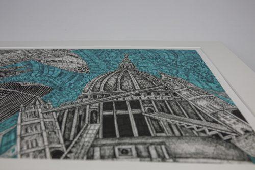 Print London Green Sky