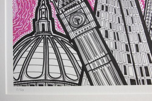 London Pink Sky Print