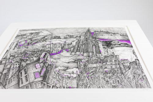 KR Edinburgh Purple print