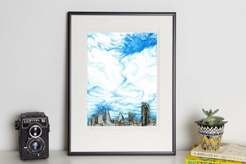 London Bankside print in frame