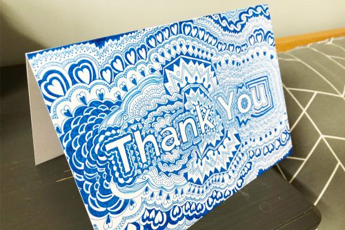 NHS Thank You Card display