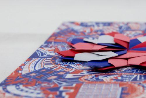 Origami R&B Postcard