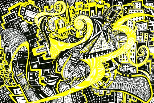 Yellow Brick Road I Drawing