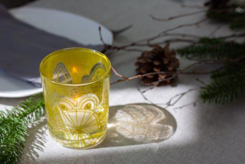 Gold tea light