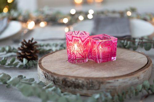 Pink tea lights