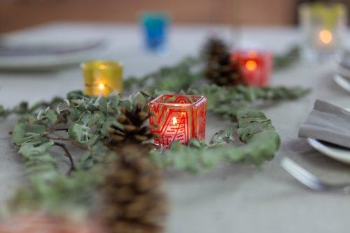 Table decoration tea lights