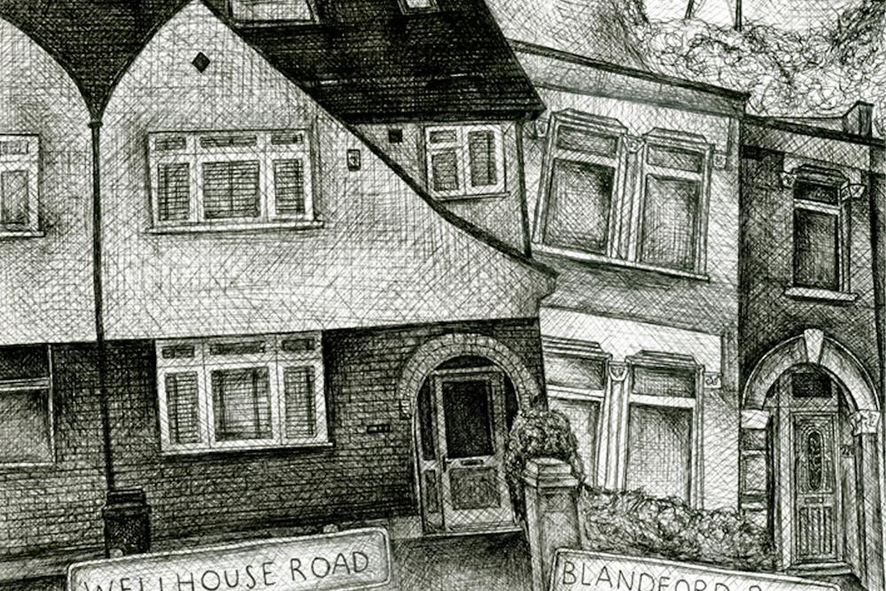 Homes close up