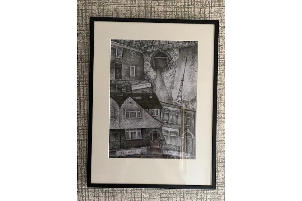 Homes in frame